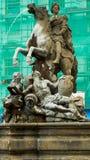 Caesars springbrunn i Olomouc Arkivfoto