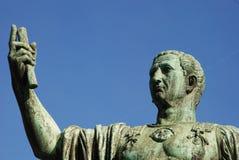 Caeser Nerva Trajanus Augustus, standbeeld in Rome Stock Afbeelding
