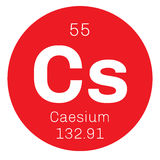 Caesium chemical element Stock Photo