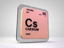 Caesium - Cs - chemical element periodic table. 3d render Stock Image