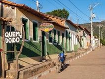 Caete-açu, Chapada DIamantina, Brazil 2005. Caete-Acú, Bahia/ Brazil - July 10, 2005. Streets of city Caete-Açu, close to Vale do Capão, Chapada stock image