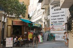 Café in the center  in Nicosia, Cyprus. Stock Photo