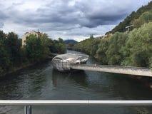 Café de flutuação - Graz, Áustria foto de stock royalty free