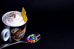 Café del ghiaccio con i sapientoni immagini stock libere da diritti