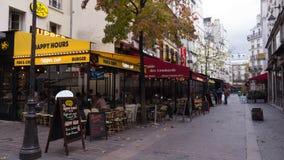 Cafés på Montmartre, Paris Arkivbilder