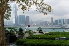 Café con la visión en Hong Kong Imagenes de archivo