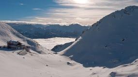 Café della montagna sopra le nuvole Fotografia Stock