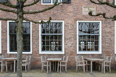 Café holandés de la calle antes de abrir fotografía de archivo