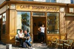 Café в Montmartre Стоковая Фотография