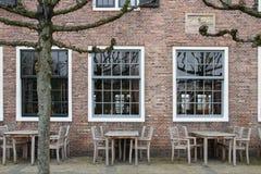 Café néerlandais de rue avant de s'ouvrir Photographie stock