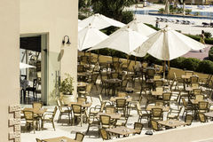 Café przy poolside Fotografia Royalty Free
