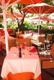 Café w Marbella Zdjęcia Stock