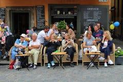 Café życie w Wielkim kwadracie Zdjęcie Royalty Free