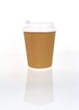 Café à emporter dans la cuvette thermo image libre de droits