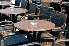 Café à l'extérieur Photo stock