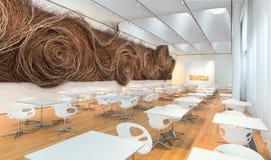 Café à l'intérieur de Carolina Museum du nord d'art Photos stock