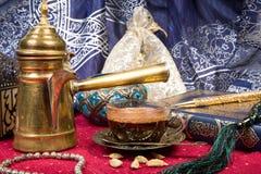 Café árabe Foto de archivo
