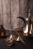 Café árabe - tema del Ramadán Imagen de archivo libre de regalías