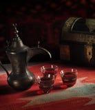 Café árabe tradicional Fotos de archivo libres de regalías