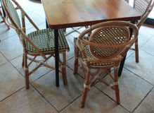 Café � tables and chairs Stock Photography