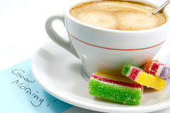 Café 1 da manhã imagem de stock
