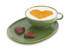 Café 1 do dia do Valentim Imagens de Stock