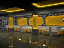 Café 3D interior Imagens de Stock Royalty Free