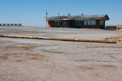 Café abandonado em Route 66 velho Imagens de Stock Royalty Free