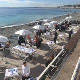 Café agradable de la 'promenade' imagen de archivo libre de regalías