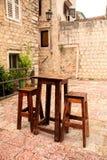 Café al aire libre Imagen de archivo libre de regalías