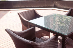 Café al aire libre Fotos de archivo