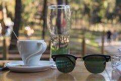 Café al aire libre Foto de archivo libre de regalías