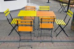 Café al aire libre de la calle del verano interior Imágenes de archivo libres de regalías