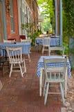 Café al aire libre de la vendimia Fotografía de archivo