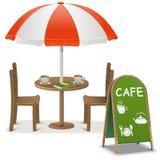 Café al aire libre del vector Foto de archivo