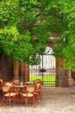 Café al aire libre en el verano Imagen de archivo libre de regalías
