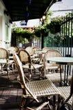 Café al aire libre típico fotografía de archivo libre de regalías