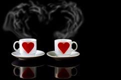 Café amoureux Photographie stock libre de droits