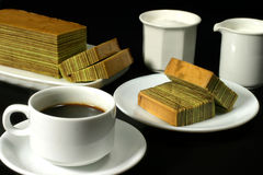 Café & bolo Fotos de Stock Royalty Free