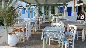 Café ao ar livre em Greece imagens de stock