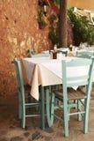 Café ao ar livre mediterrâneo Imagem de Stock