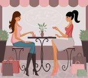 Café après l'achat Photographie stock