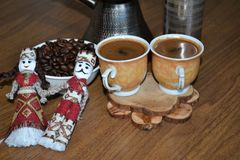 Café arménien de matin sur une table photos stock
