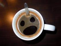 Café asustado Fotografía de archivo libre de regalías