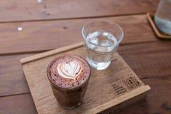 Café atrasado da arte do Mocha imagem de stock royalty free