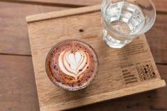Café atrasado da arte do Mocha foto de stock