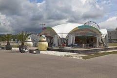 Café auf dem Gebiet des Sochi-Olympiaparks Lizenzfreie Stockfotografie