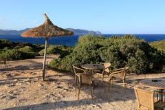 Café auf dem Strand Stockfotos