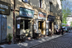 Café auf den Straßen lizenzfreies stockbild