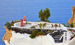 Café auf Santorini lizenzfreie stockfotografie